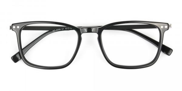 Designer Black Frame glasses in Rectangular - 6