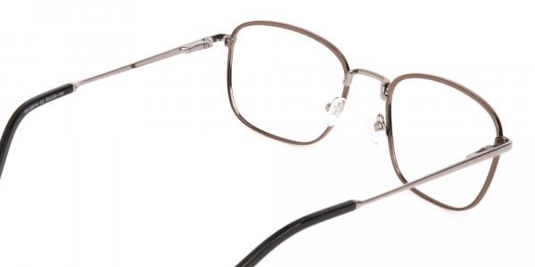 Full-Rim Gunmetal Wayfarer Glasses Frame Unisex-5