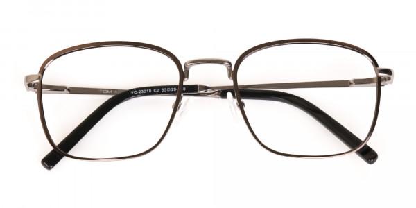 Full-Rim Gunmetal Wayfarer Glasses Frame Unisex-6