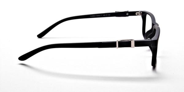 black Wayfarer eyeglasses -3