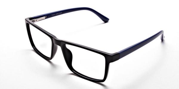 Black & Blue Glasses -2