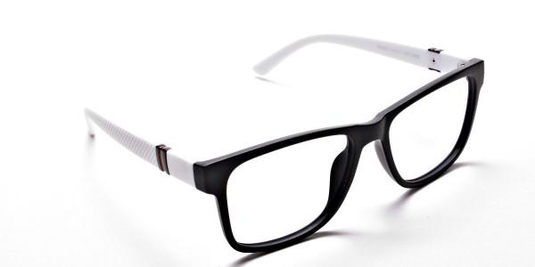 Black & White Frame Eyeglasses -1