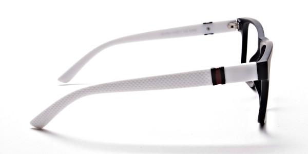 Black & White Frame Eyeglasses -3