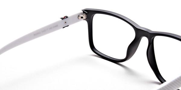 Black & White Frame Eyeglasses -4