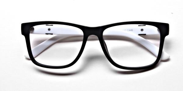Black & White Frame Eyeglasses -5