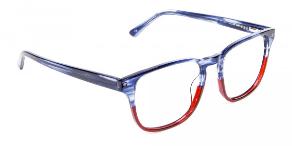 Marble Blue & Red Glasses -2