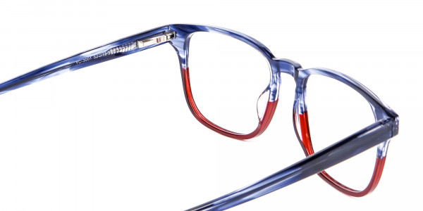 Marble Blue & Red Glasses -5