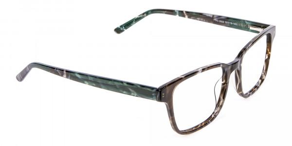 Brown Marble Rectangular Glasses - 1