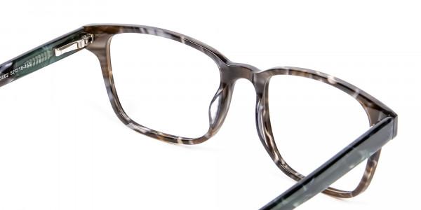 Brown Marble Rectangular Glasses - 4
