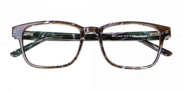 Brown Marble Rectangular Glasses - 5