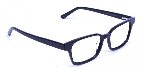 Sleek Black Rectangulars -1