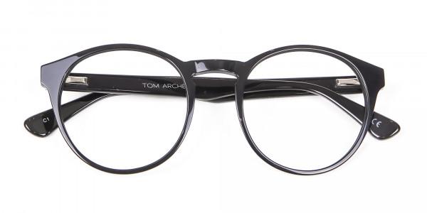 Smooth Dark Quality Eyeglasses - 5
