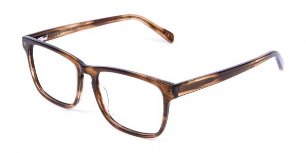 Walnut Brown Glasses in Rectangular - 2