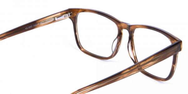 Walnut Brown Glasses in Rectangular - 4