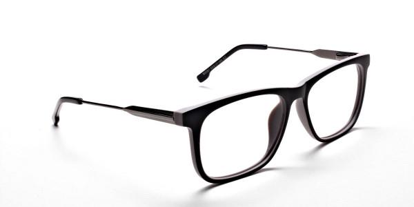 Wayfarer Black & Grey Detailed Glasses - 1