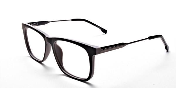 Wayfarer Black & Grey Detailed Glasses - 2
