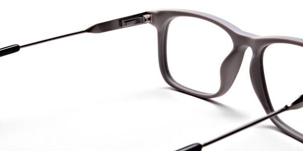 Wayfarer Black & Grey Detailed Glasses - 4