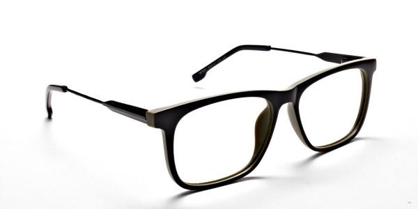 Green Rectangular Glasses for Men and Women - 1