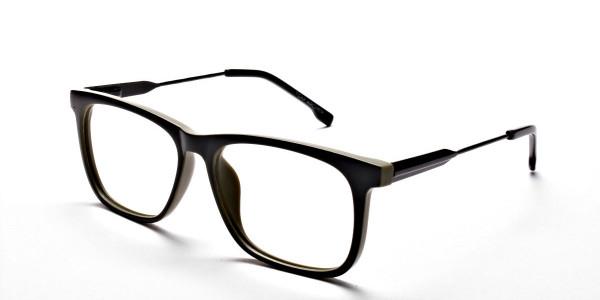Green Rectangular Glasses for Men and Women - 2