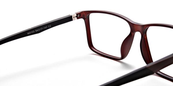 Brown Matte Glasses  -4