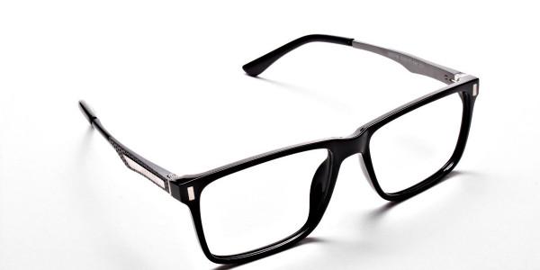 Black Rectangular Glasses -1