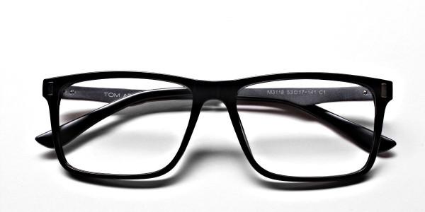 Black Rectangular Glasses -5
