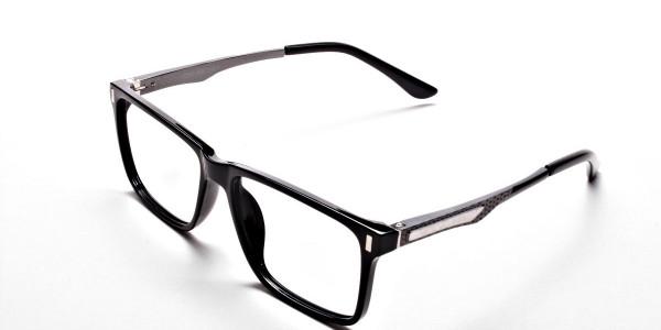 Black Rectangular Glasses -2