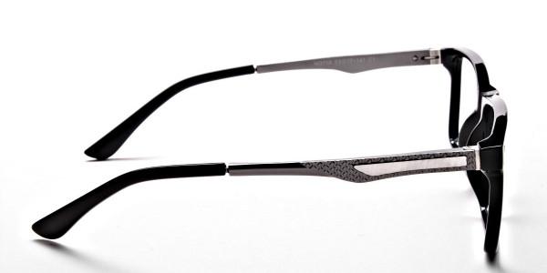 Black Rectangular Glasses -3
