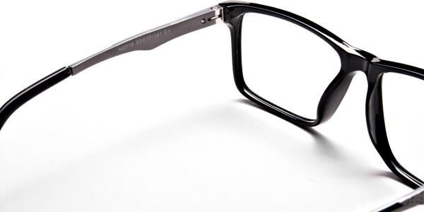 Black Rectangular Glasses -4