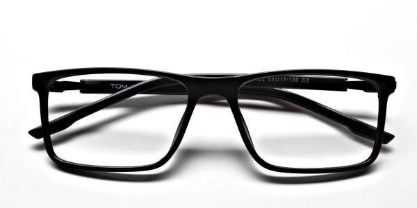 Mattle Black Glasses