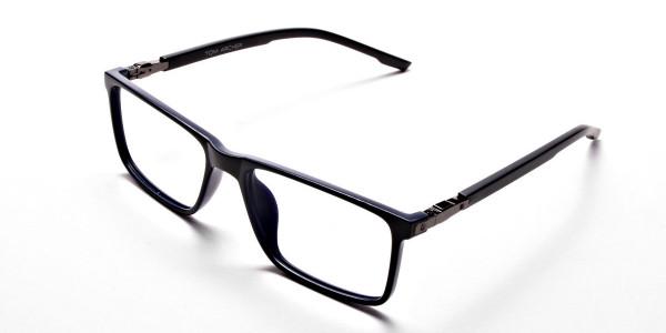 Black & Blue Computer Glasses -2