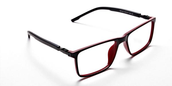 Black & Red Designer Glasses -1