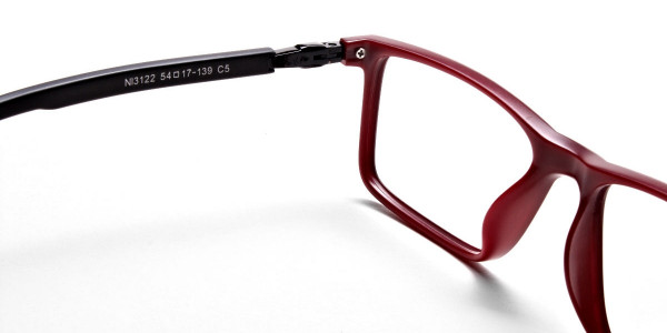 Black & Red Designer Glasses -4