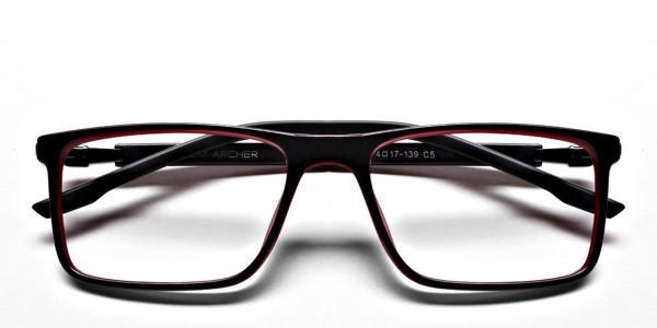 Black & Red Designer Glasses -5