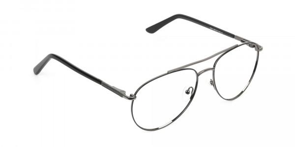 Ultralight Aviator Black & Gunmetal Glasses - 2