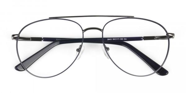 Ultralight Aviator Gunmetal Navy Blue Glasses - 6