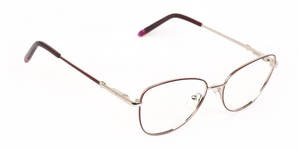 Black & Silver, Red  Metal Cat Eye Glasses Women-2