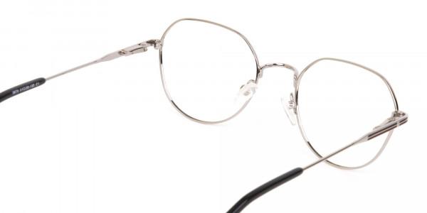Black & Silver Wayfarer Metal Glasses in Full-Rim-5