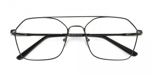 Geometric Aviator Black Gunmetal Spectacles - 6
