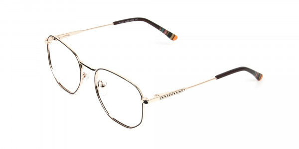 Geometric Brown & Gold Spectacles - 3