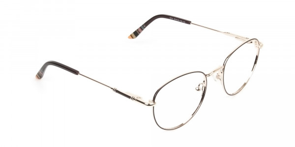Lightweight Gold  & Brown Round Spectacles - 2