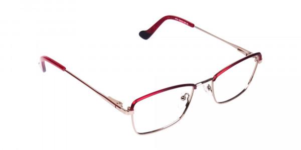 blue light glasses metal frame-2