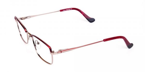 blue light glasses metal frame-3