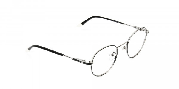 Black & Silver Round Spectacles - 2