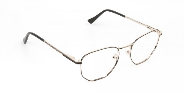 Lightweight Gold and Brown Geometric Glasses - 2