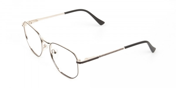 Lightweight Gold and Brown Geometric Glasses - 3