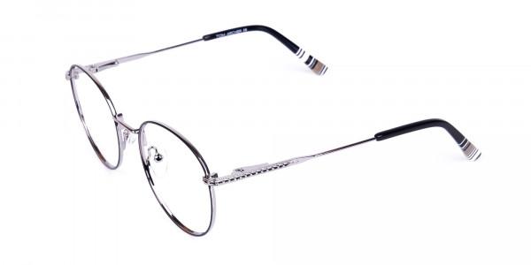 Black-Silver-Round-Full-Rim-Glasses-3