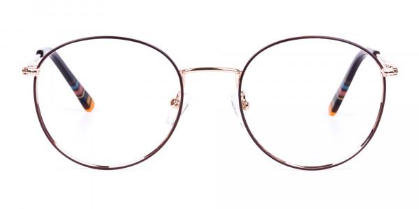 Brown-Gold-Round-Full-Rim-Glasses-1