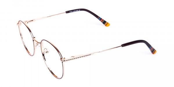 Brown-Gold-Round-Full-Rim-Glasses-3