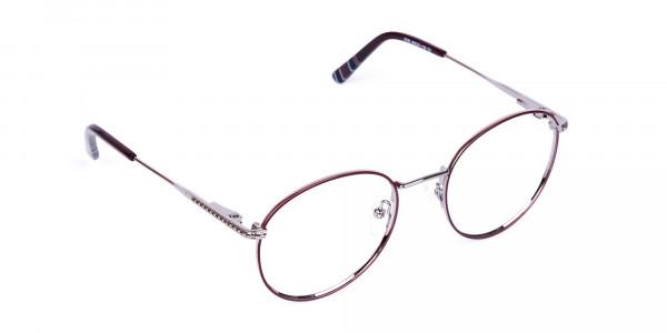 Burgundy-Silver-Round-Full-Rim-Glasses-2